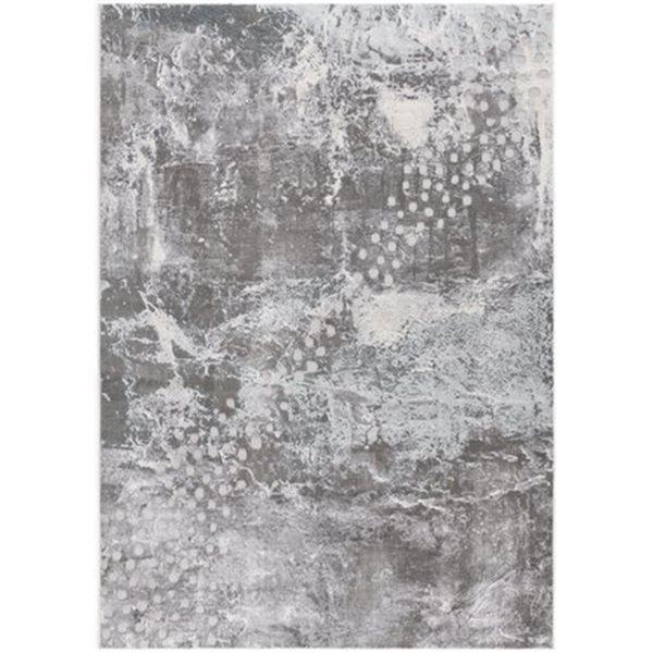 Tapis Oasis par Rug Branch bleu rectangulaire de 5pi x 8pi, motif abstrait