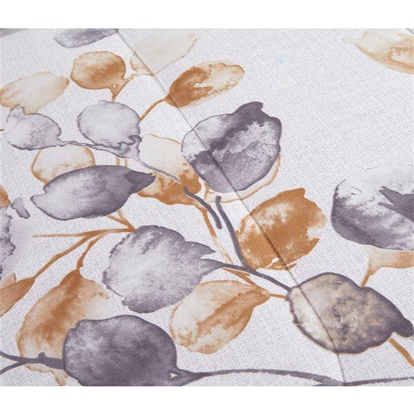 Ensemble douillette au motif floral blanc et doré Marina Decoration pour très grand lit, 7 pièces