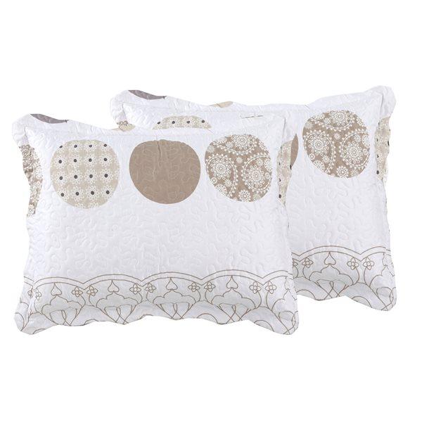 Marina Decoration Grey/Taupe Twin Quilt Set - 2-Piece