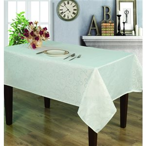 Home Secret Indoor White Table Cover 102-in x 60-in Rectangular