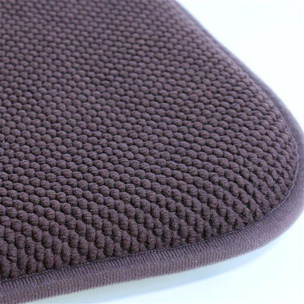 Marina Decoration Brown Memory Foam Chair Pad Nonslip Rubber Cushion - 4-Pack