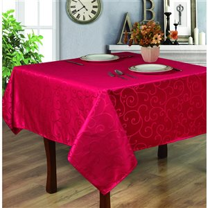 Home Secret Indoor Red Table Cover 70-in x 70-in Square