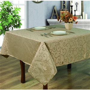 Home Secret Indoor Taupe Table Cover 70-in x 70-in Square