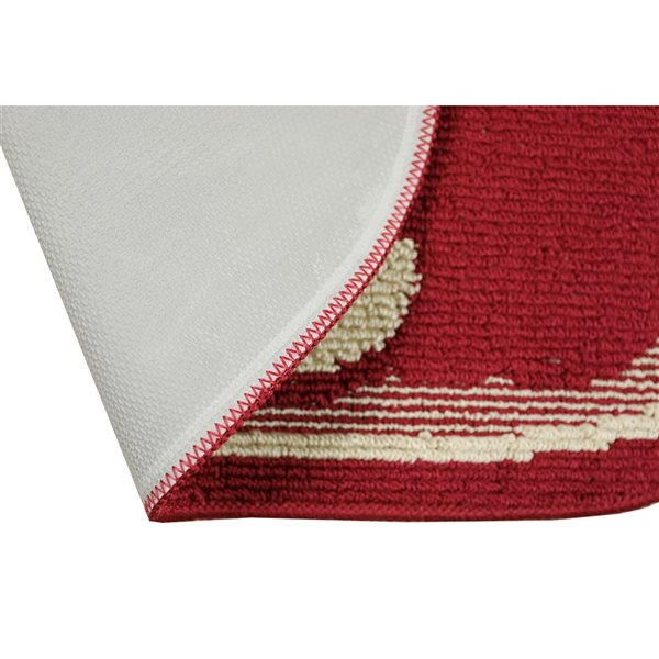 Nova Home Collection Non-Slip Soft 20-in x 48-in Kitchen Rug Mat, Red Apple - 2-Piece Set