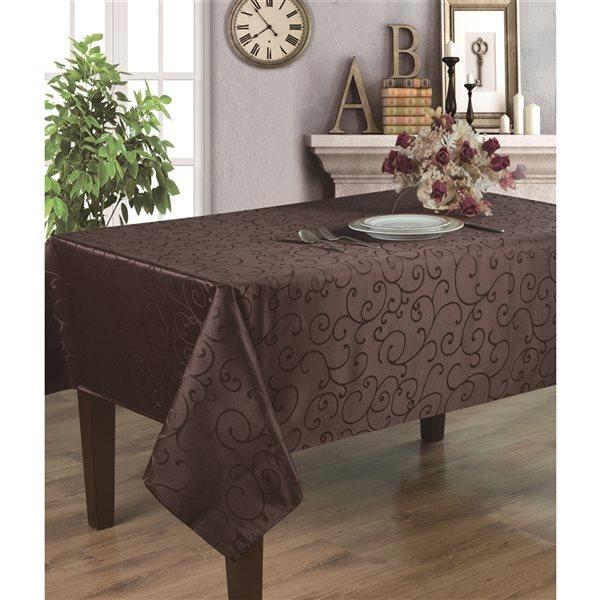 Home Secret Indoor Brown Table Cover 102-in x 60-in Rectangular