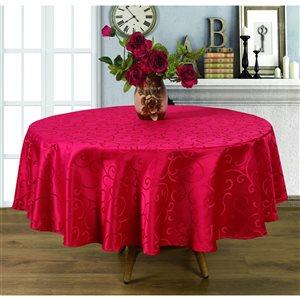 Nappe rouge d'intérieur de 90 po x 90 po de Home Secret, ronde
