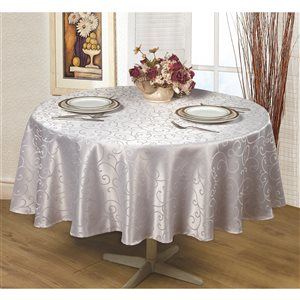 Home Secret Indoor Silver Table Cover 70-in x 70-in Round