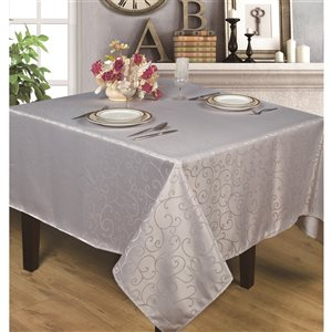 Home Secret Indoor Silver Table Cover 70-in x 70-in Square