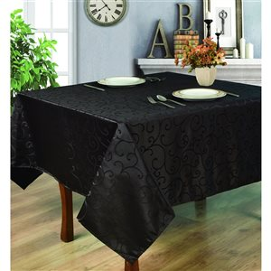 Home Secret Indoor Black Table Cover 70-in x 70-in Square