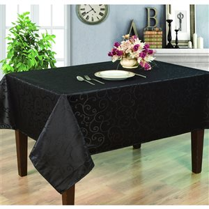 Home Secret Indoor Black Table Cover 120-in x 60-in Rectangular