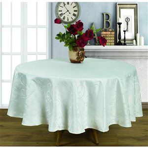 Home Secret Indoor White Table Cover 70-in x 70-in Round