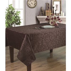 Home Secret Indoor Brown Table Cover 18-in x 18-in Square