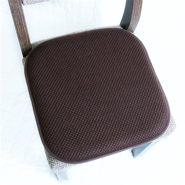 Coussinet de chaise brun en mousse à mémoire et caoutchouc antidérapant de Marina Decoration, ens. de 6