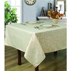 Home Secret Indoor Cream Table Cover 70-in x 70-in Square
