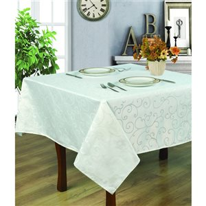 Home Secret Indoor White Table Cover 70-in x 70-in Square