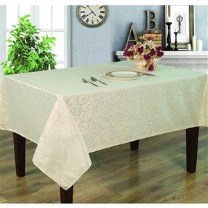 Home Secret Indoor Cream Table Cover 84-in x 60-in Rectangular