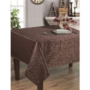Home Secret Indoor Brown Table Cover 70-in x 70-in Square