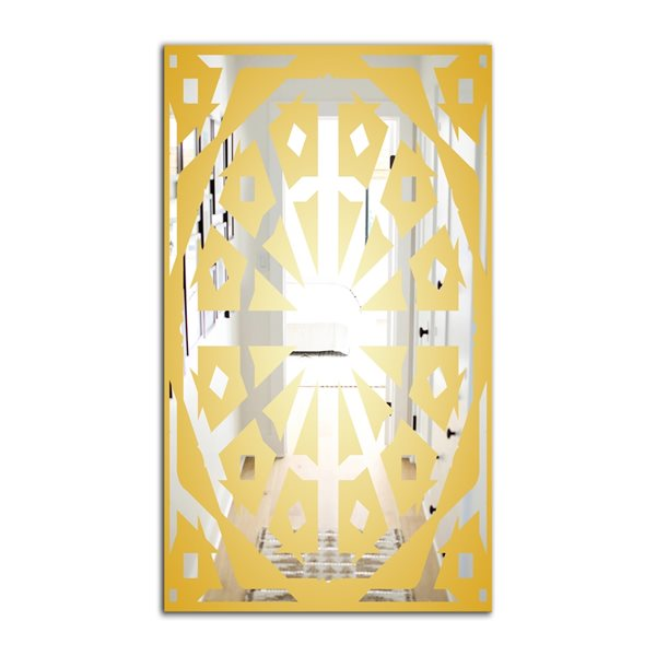 Designart Canada 23.6-in W x 35.4-in L Rectangle Gold Glam Polished Wall Mirror