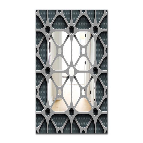 Designart Canada 35.4-in L x 23.6-in W Rectangle Grey Scandinavian Mid-Century Polished Wall Mirror