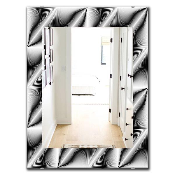 Designart Canada 35.4-in L x 23.6-in W Rectangle Scandinavian Polished Wall Mirror