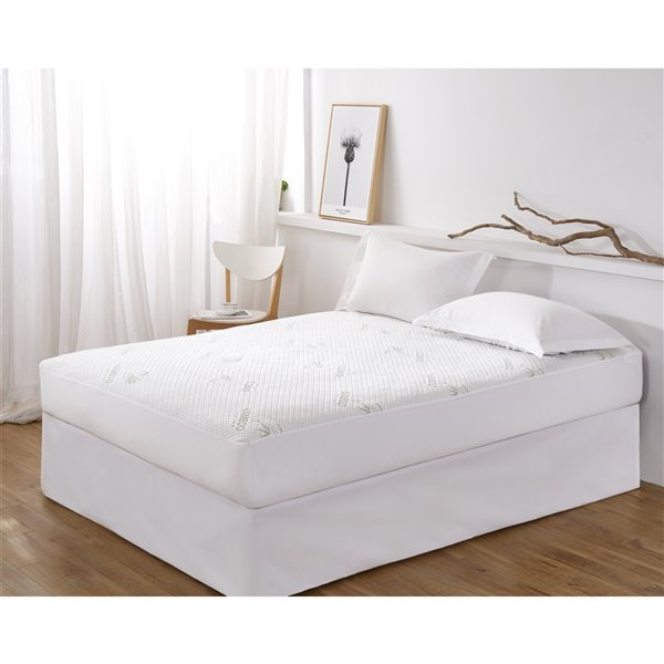 Marina Decoration16-in D Waterproof Rayon from Bamboo Full Hypoallergenic Mattress Cover