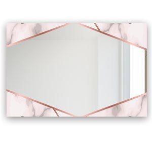 DesignArt 23.7-in x 31.5-in Capital Gold Sleek 20 Rectangle Glam Mirror