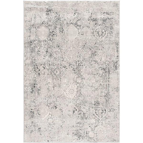 Tapis Mirage gris abstrait moderne de 5 x 8 par Rug branch