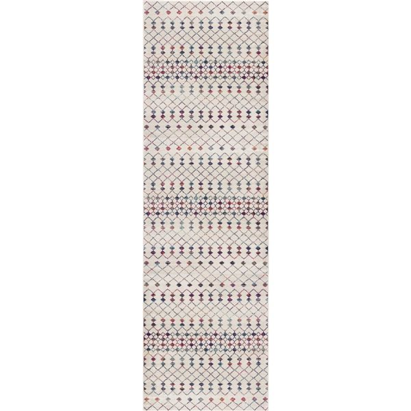 Tapis de passage Savannah crème 2 x 15 avec des formes géométriques par Rug branch