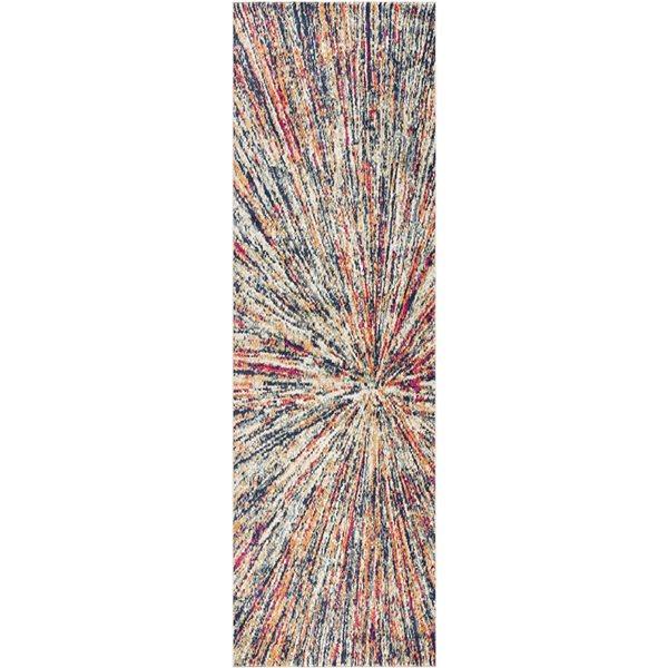 Tapis de passage Savannah crème abstrait moderne de 2 x 20 par Rug branch