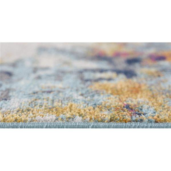 Tapis de passage Savannah abstrait moderne de 2 x 18 par Rug branch, multicolore