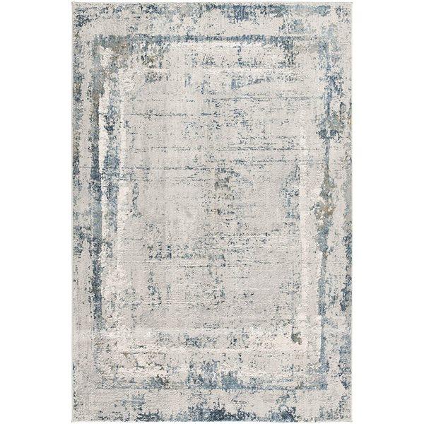 Tapis Mirage abstrait moderne de 4 x 6 par Rug branch, gris