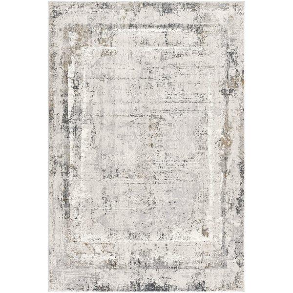 Tapis Mirage gris abstrait 7 x 10 par Rug branch