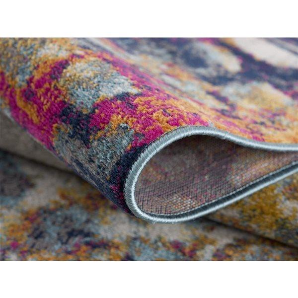 Tapis de passage Savannah abstrait moderne de 2 x 6 par Rug branch, multicolore