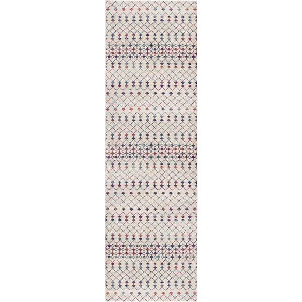 Tapis de passage Savannah crème 2 x 18 avec des formes géométriques par Rug branch