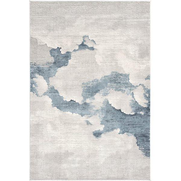 Tapis Mirage gris abstrait moderne de 4 x 6 par Rug branch