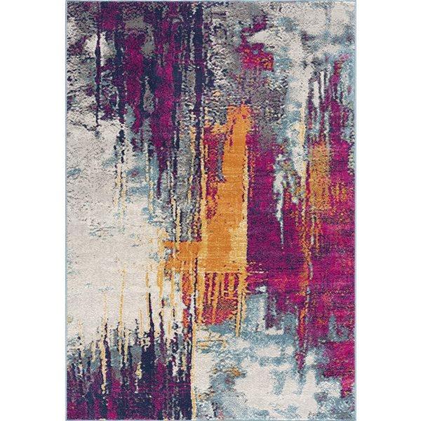 Tapis Savannah multicolore abstrait moderne de 2 x 4 par Rug branch