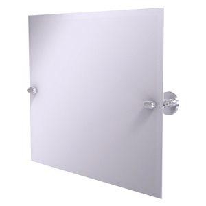 Allied Brass Tango 21-in Satin Chrome Rectangular Frameless Bathroom Mirror
