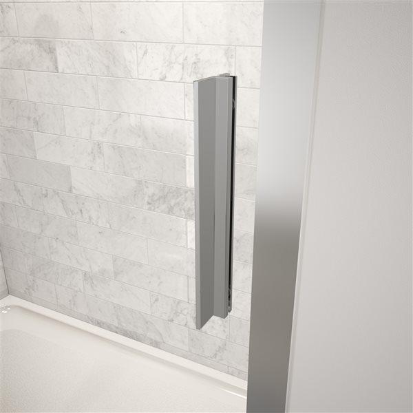 Porte de douche coulissante de 45 po à 46,5 po l. x 72 po h. Connect par MAAX, chrome/verre clair