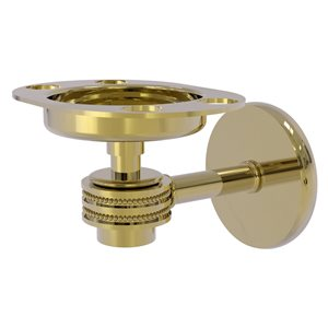Allied Brass Satellite Orbit One Unlacquered Brass Tumbler and Toothbrush Holder - Dotted Accents