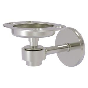 Allied Brass Satellite Orbit One Satin Nickel Brass Tumbler and Toothbrush Holder