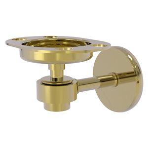 Allied Brass Satellite Orbit One Unlacquered Brass Tumbler and Toothbrush Holder
