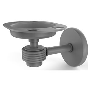 Allied Brass Satellite Orbit One Matte Grey Brass Tumbler and Toothbrush Holder - Dotted Accents