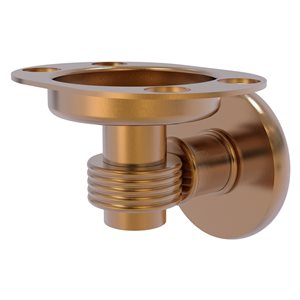 Allied Brass Continental Brushed Bronze Brass Tumbler and Toothbrush Holder with Grooved Accents