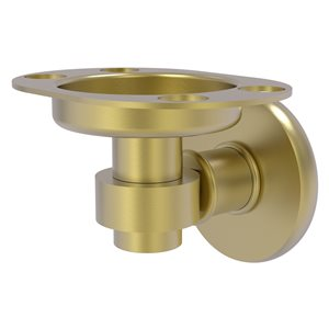 Allied Brass Continental Satin Brass Tumbler and Toothbrush Holder