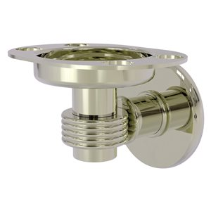 Allied Brass Continental Polished Nickel Brass Tumbler and Toothbrush Holder with Grooved Accents