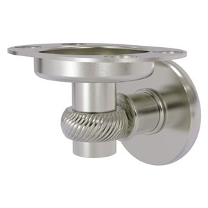 Allied Brass Continental Satin Nickel Brass Wall Mount Tumbler and Toothbrush Holder