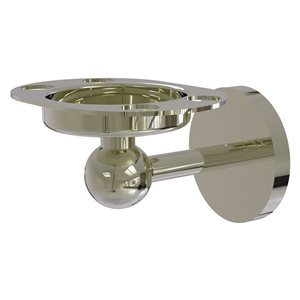 Allied Brass Skyline Polished Nickel Brass Tumbler and Toothbrush Holder