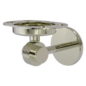 Allied Brass Polished Nickel Brass Satellite Orbit Two Tumbler and Toothbrush Holder