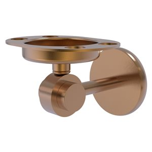 Allied Brass Satellite Orbit Two Brass Brushed Bronze Tumbler and Toothbrush Holder