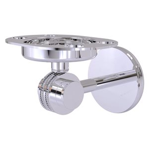 Allied Brass Polished Chrome Satellite Orbit Two Brass Tumbler and Toothbrush Holder